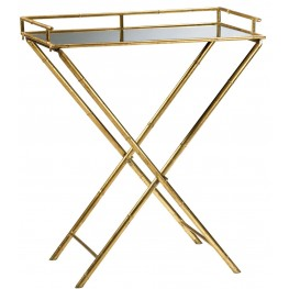 Bamboo Mirrored Tray Table