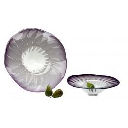 Art Glass Purple Small Bowl