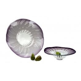 Art Glass Purple Large Bowl