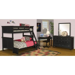 Tamarack Black Youth Storage Bunk Bedroom Set