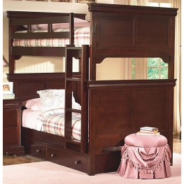 Versaille Bordeaux Twin Over Twin Bunk Bed