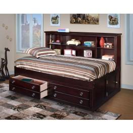Victoria Espresso Twin Lounge Bed
