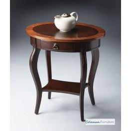 Cherry Nouveau Oval Accent Table