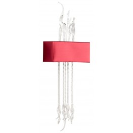 Islet Red And Clear Wall Sconce