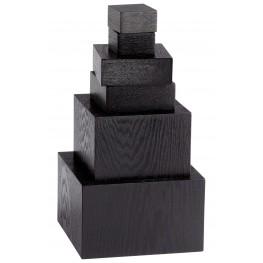 Black Veneer Art Pedestals