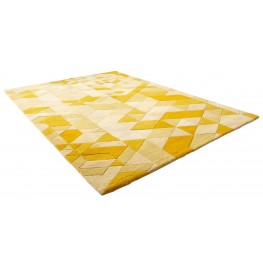 Facets Gold Small Rug