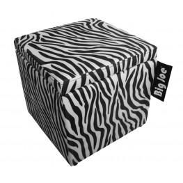 """Big Joe 15"""" Zebra SmartMax Square Storage Ottoman"""