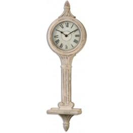 Louisa Antiqued Ivory Wall Clocks