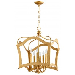 Milan Gold Leaf 6 Light Pendant