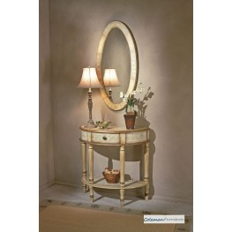 Tuscan Cream Demilune Console Table
