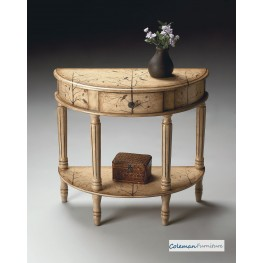 Winter Forest Demilune Console Table