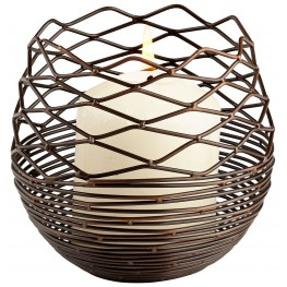 Coiled Silk Small Candleholder