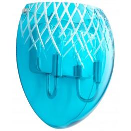 Etched Blue 3 Light Pendant