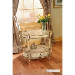 Tuscan Cream Oval Accent Table