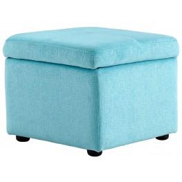 Huffington Blue Ottoman