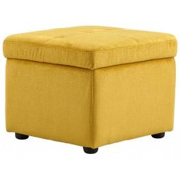Huffington Yellow Ottoman