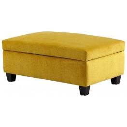 Aldous Yellow Ottoman