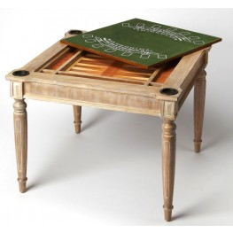 Masterpiece Vincent Driftwood Multi-Game Card Table