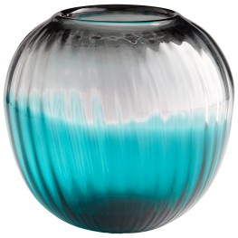 Serenity Clear Blue Sphere Vase