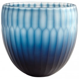 Large Blue Tulip Bowl