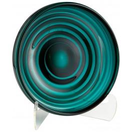 Small Teal Vertigo Plate