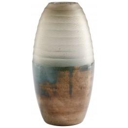 Small Around The World Bronze Vase