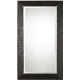 Creston Oversized Mottled Black Mirror