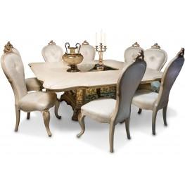 "Platine de Royale Champagne 84"" Square Dining Room Set"