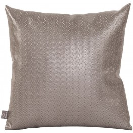 Weave Pewter Small Pillow