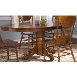 Nostalgia Oval Pedestal Dining Table
