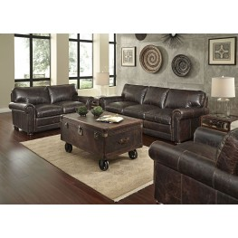 Genesis Brompton Chocolate Leather Living Room Set