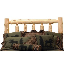 Cedar King Log Headboard