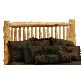 Cedar King Small Spindle Log Headboard