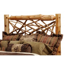 Vintage Cedar King Twig Headboard