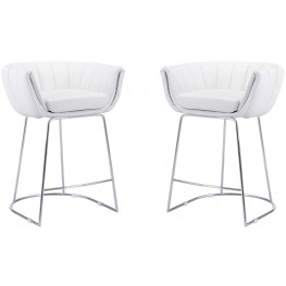 Latte White Counter Chair Set of 2