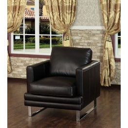 Melbourne Dark Chocolate Leather Chair