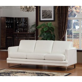Melbourne White Leather Sofa