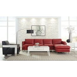 Melbourne Berry Red Leather RAF Sectional