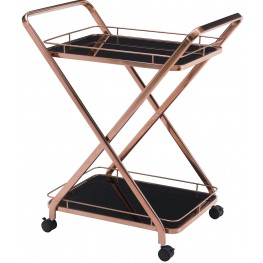 Vesuvius Rose Gold Serving Cart