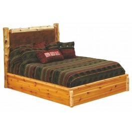Cedar Twin Leather Upholstered Platform Bed