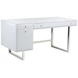 Camden High Gloss White Desk
