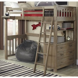 Highlands Driftwood Twin Loft Bed