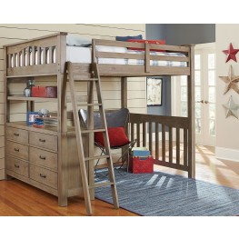 Highlands Driftwood Full Loft Bed