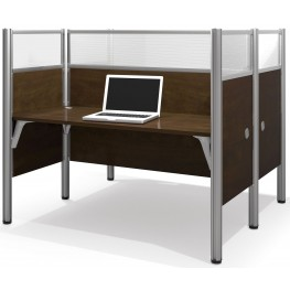 Pro-Biz Chocolate Double Face to Face Glass Panel Workstation
