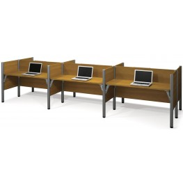 100873C Pro-Biz Cappuccino Cherry Six Workstations