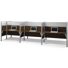 Pro-Biz Chocolate Six Glass Panel Workstation
