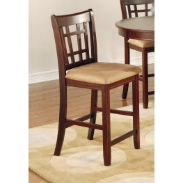 "Lavon Dark Cherry 24"" Bar Stool Set of 2"