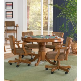Mitchell Oak Game Table Set