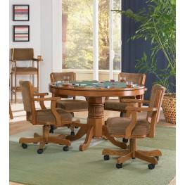 Mitchell Oak Game Table Set
