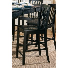 "Pines Black 24"" Bar Stool Set of 2"